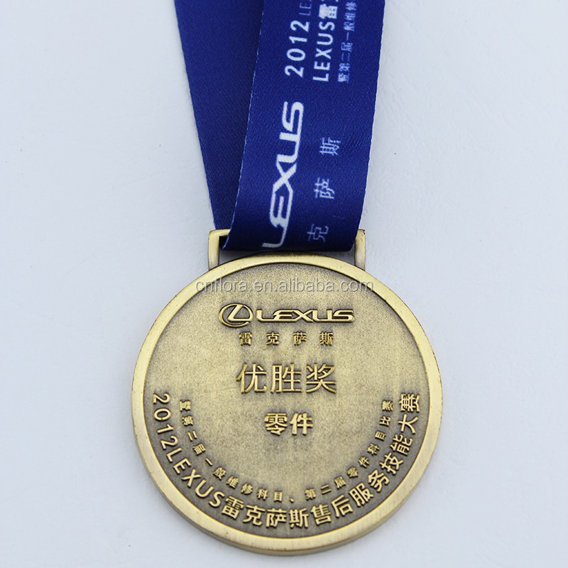 2017 Hight quality enamel metal medal holder,Custom sports metal medal with ribbon
