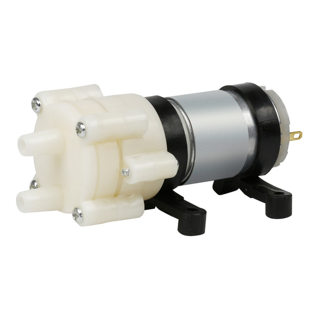 New R385 DC Diaphragm <strong>Pump</strong> 6-12V Miniature <strong>Pump</strong> Water Cooling for DIY RC Boat Spare UNO