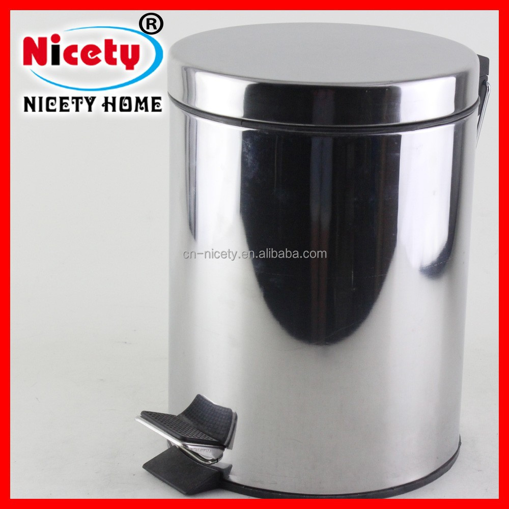 Function stainless steel foot pedal dustbin