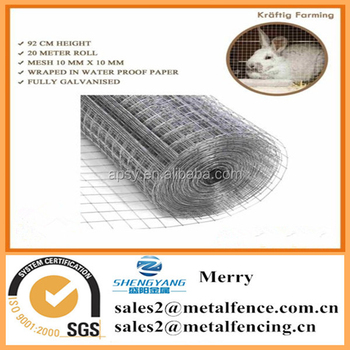 galvanised wire netting chicken rabbit pet wire mesh panel aviary fence barrier