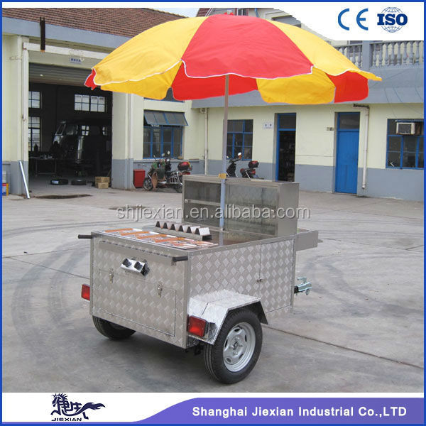 2016Factory direct sale commercial JX-HS120B hot dog cart tricycle for sale