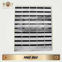 eco friendly apartment wall mount garden 304# stainless steel mailbox for letters