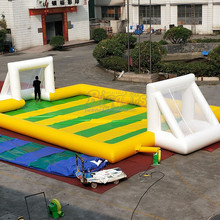 Inflatable Air Soccer Game Football Field Soapy Stadium
