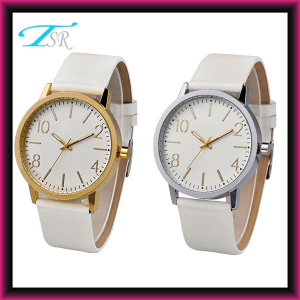 classic white colour watches as promotion gift made in china