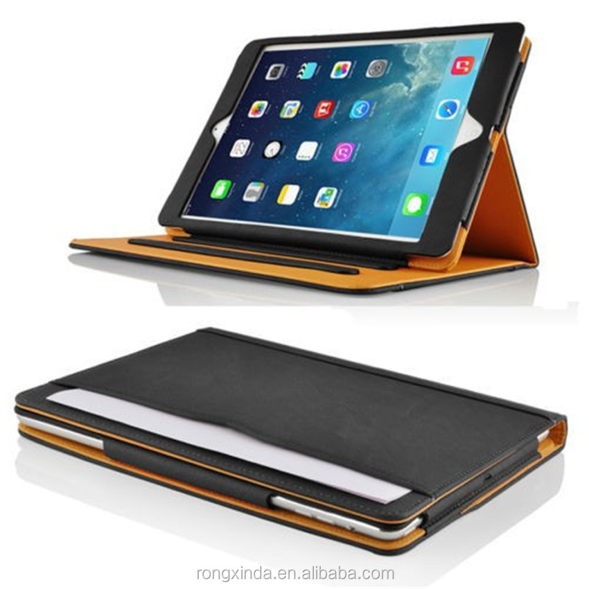 Factory Price Alibaba Wholeslae Leather Tablet Bag For Ipad Pro 12.9, Leather Case for Ipad Pro Hand Strap and Credit Pockets