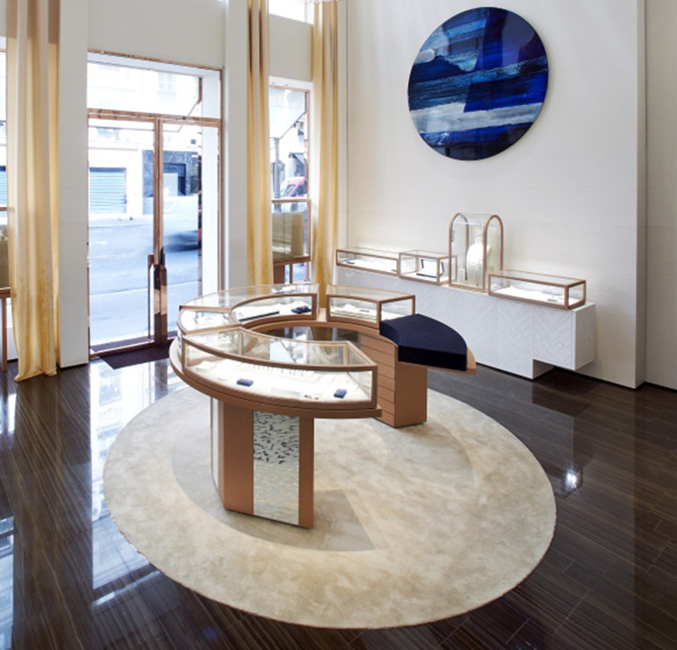 high end showroom designs for jewellery store