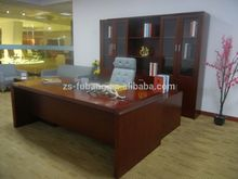 2015 New Model carved fashion melamine cherry wood office desk