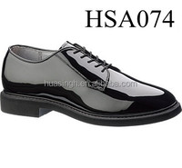 low cut design hi-shiny leather Bates mens formal occasion military officer shoes
