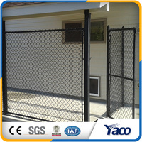 High quality diamond Dark green PVC Coated Cyclone Chain link fence