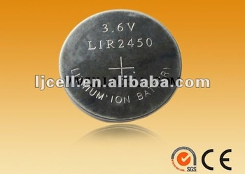 3.6V LIR2450 high power Li-ion battery