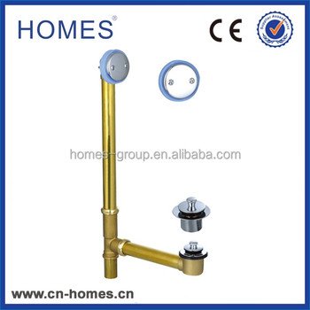 bathroom bathtub drainage fittings Brass pop up drains