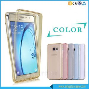 360 Degree Shockproof Hybrid Full Cover Clear TPU Protective Case For Samsung Galaxy Grand Prime G530 G5308
