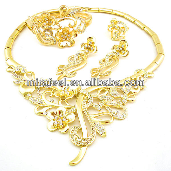 2014 new for spring African 4 pieces jewelry sets custom jewelry set 18k alloy big jewelry color guaranteed