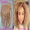 Factory Price Good Quality 613 Kinky Curly hair closure 100% Brazilian Hair Closure