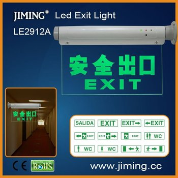 LE2912B emergency LED exit signs:emergency sign,electronic sign