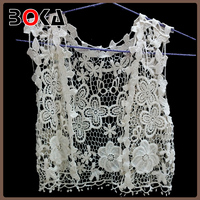 BOKA Fashion water soluble cotton tank design, embroidered vest, crochet vest BK-CL546
