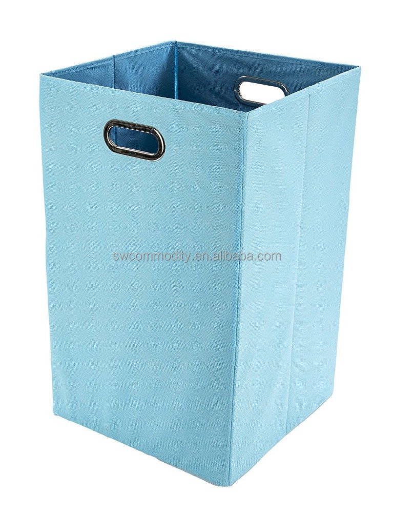 Folding Laundry Basket with Handles / High-Strength Polymer Construction / Folds for Easy Storage and Transportation