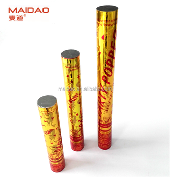 golden metallic foil party popper for india market