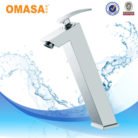 Bathroom Design Brass single handle High Basin Faucet Made in China Hot Cold Basin Mixer