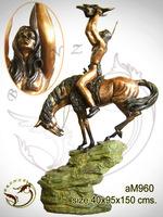 Bronze Remington American Indian Sculpture