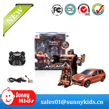 2.4G RC Transform Robot Car With Charger and USB with light and sounds