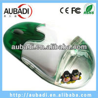 Built-in Lithium battery custom gift cute aqua Wireless Mouse with Floater