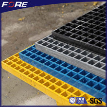 Waterproof Covered 25mm Black FRP Fiberglass Grating For Car Washes