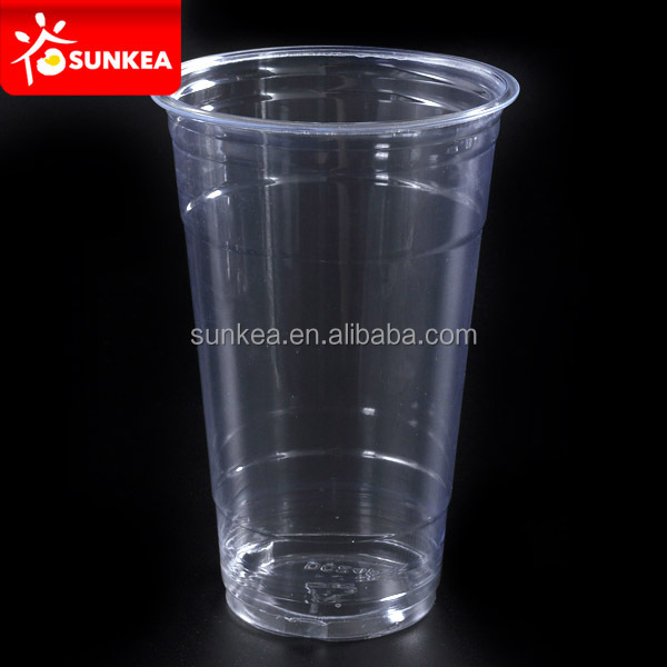 Custom printed disposable plastic 20 oz cold drinks taste cup
