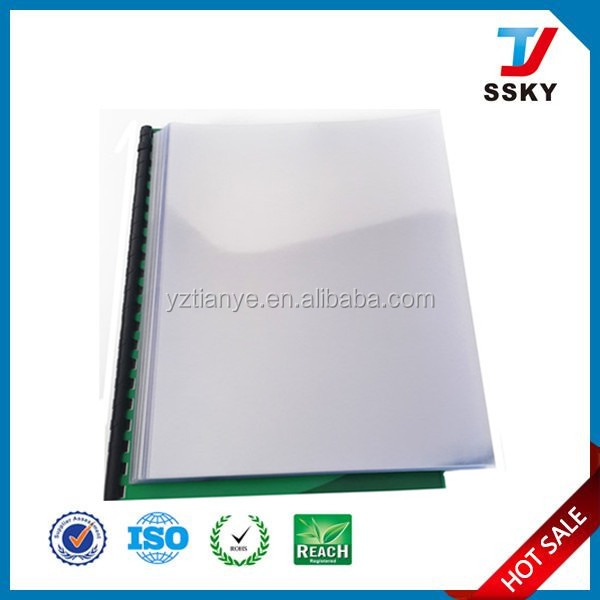 Protective book cover plastic pvc cover transparent clear book cover