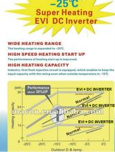 DAIKIN heat pump,New MACON EVI DC AC INVERTER floor heating Heat Pump for cold area with CE