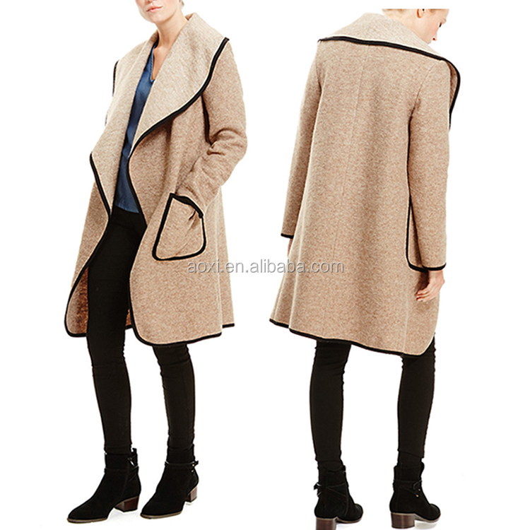 Custom garment manufacturer european style women wholesale winter coat