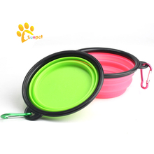 Colorful Collapsible Travel Bowl Dog Designer Suction Cup Pet Bowl