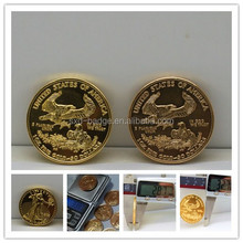 1 oz 22k American gold eagle coin,replica tungsten gold coin from China