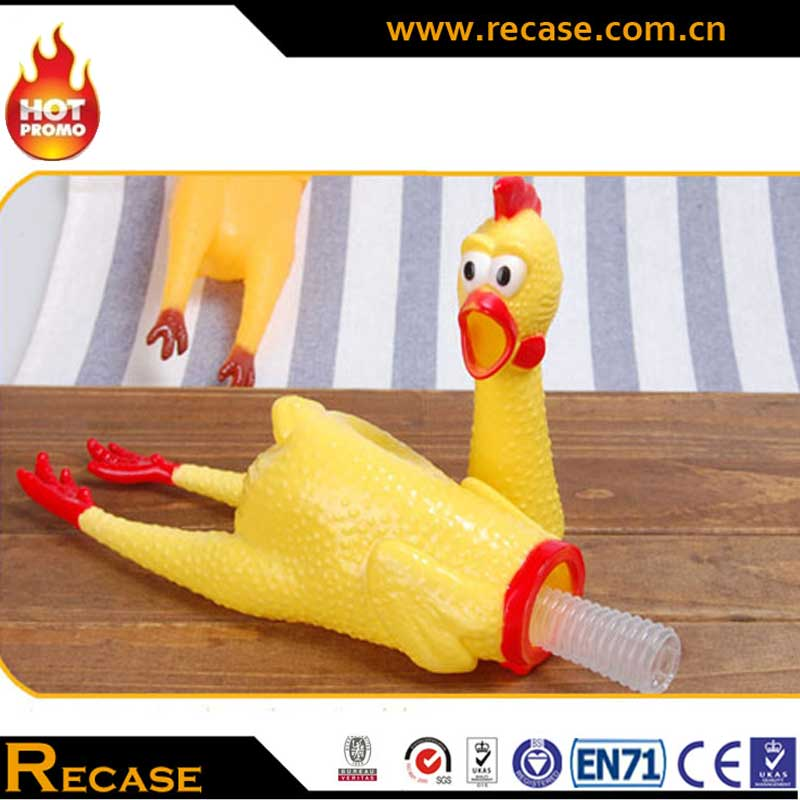 Custom Dog Toys High Quantity Squeeze Pet Rubber Toys Chicken Promotion Item Bigger Size JE