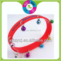 Cheap Candy Color Chunky Chain Link Style Silicone Rubber Wristband Bracelet with 3 metal links
