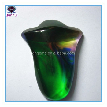 Colorful glass irregular shaped cz stone pendant