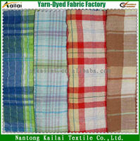 poly cotton shirt checked fabric