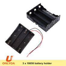 heavy duty 3 cell li-ion 18650 3.7V lithium battery holder with wire leads / PC pins