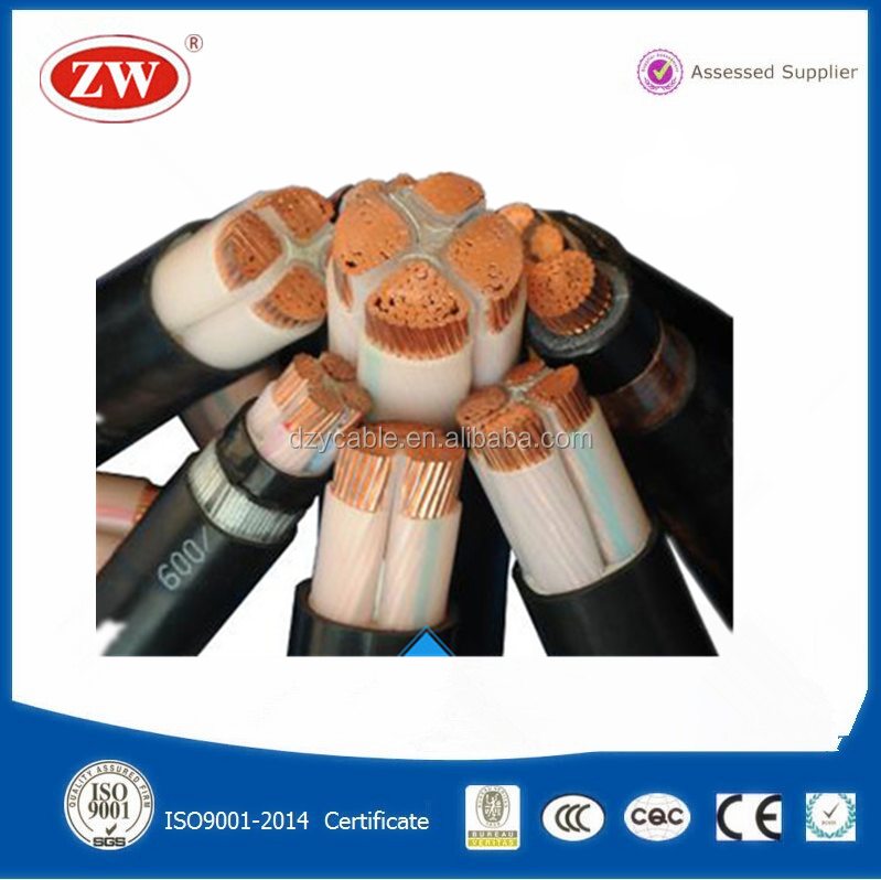multi cores 0.6/1kv low voltage copper conductor power cable 35mm2