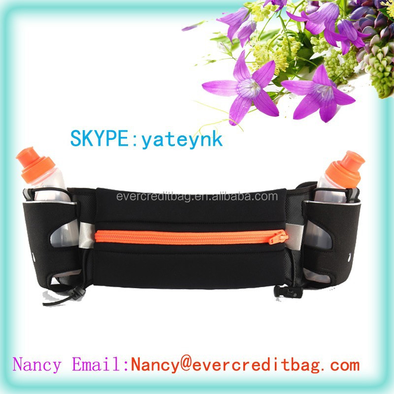 Hydration Belt for Running - Includes Accessories and Two 10-Ounce BPA-Free and Leak-Proof Water Bottles