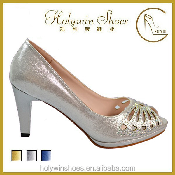 ladies evening shoes 6cm low heel crystal wedding shoes