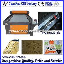 YN1325 fabric/fur/rubber/leather laser cutting machine with competitive quality and price