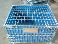 Rolling Folding Wire Pallet Storage Cage