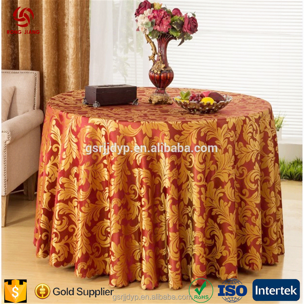 Polyester wedding table linens hotel tablecloths