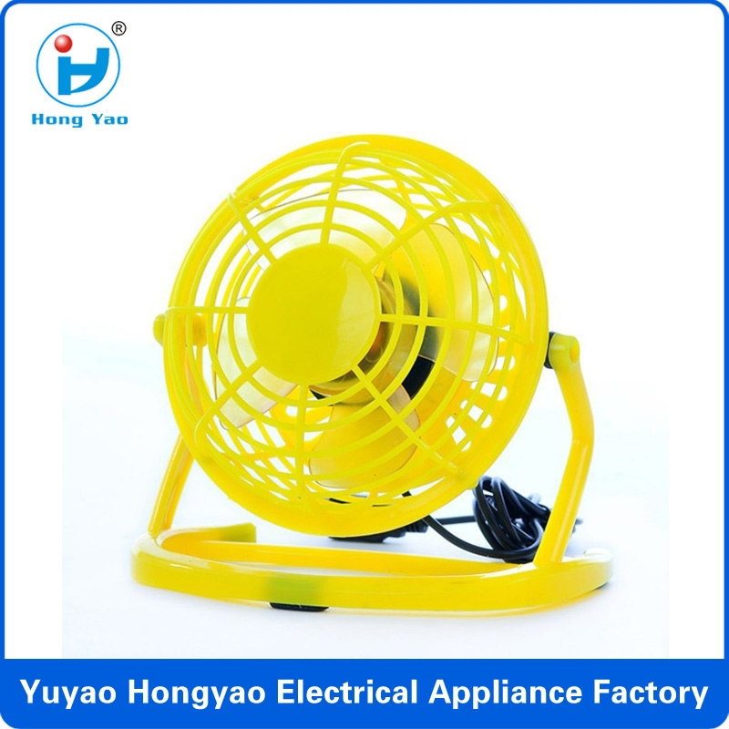 HY-816 New Hot Sale Portable 4 Inch 4 Leaf USB Mini Fan for Home Office Restaurant Hotel
