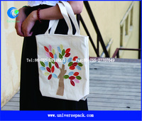 Cotton Sewed Tree Tote Bag For Shopping High Quality Girls' Custom Packing Bags