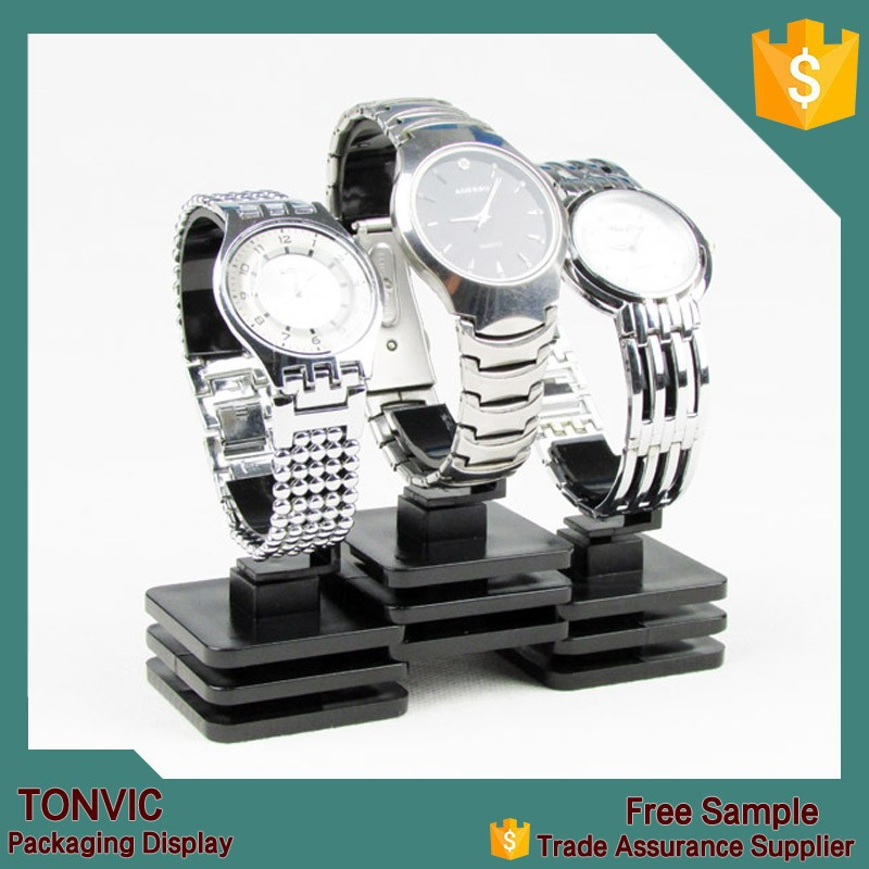 2015 hot black watch <strong>display</strong> stand holder acrylic fashion jewelry <strong>display</strong>