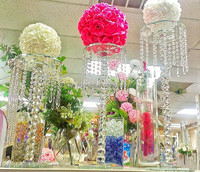tall wedding hanging crystal flower stand MH-1554