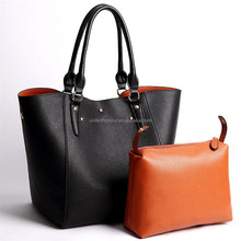 Colorful Good Quality PU Leather Tote Bags Lady Handbag Free Sample