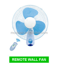 home appliances oriental wall fan with remote and CE ROHS